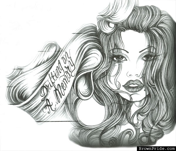 Cool drawings of cholas the image kid for Cool drawing websites